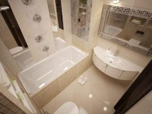 Отделка и ремонт маленькой ванной комнаты